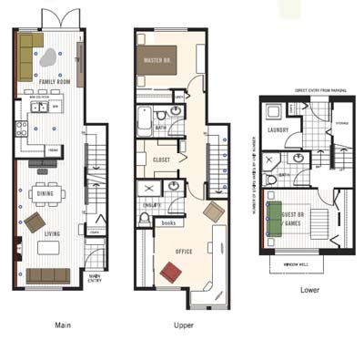 Best townhome floor plans joy studio design gallery for Townhouse plans