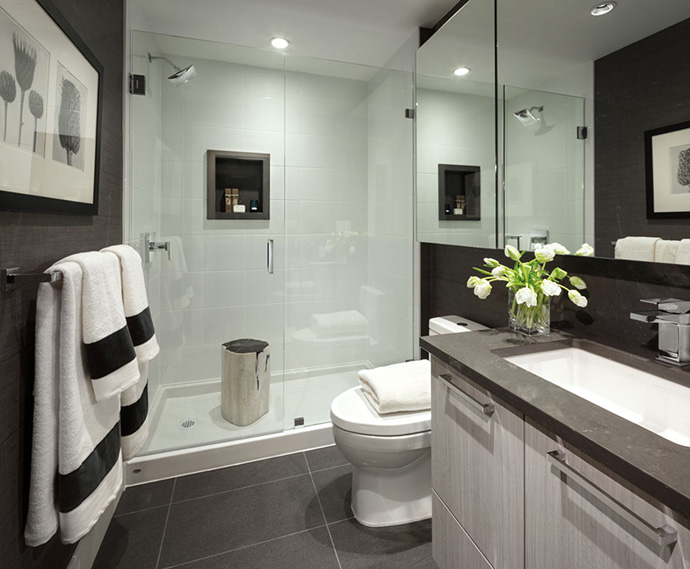 Beautiful bathrooms at Avalon by Wesgroup.