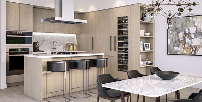 Beautiful modern kitchens.