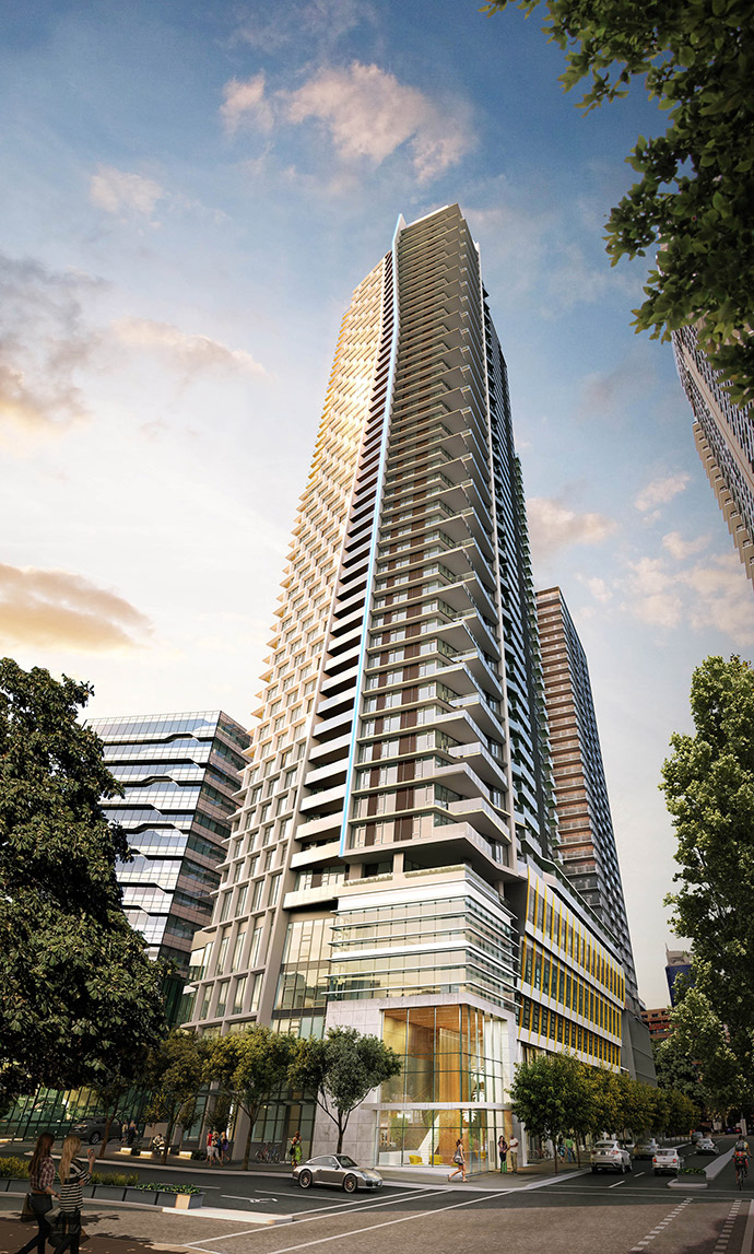 IBI rendering of One Burrard Place skyskraper.