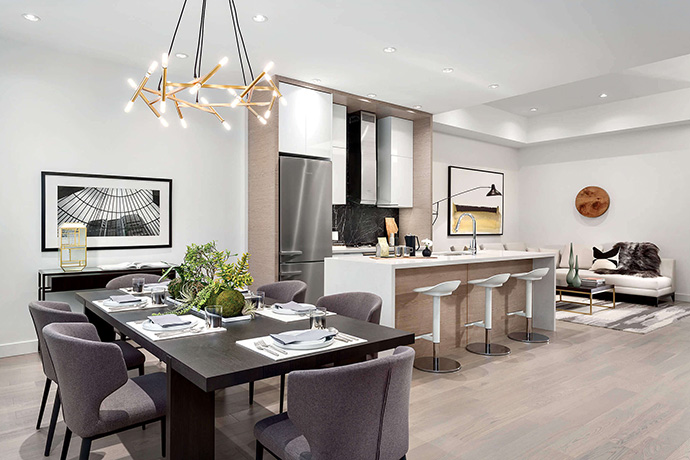 Westside Vancouver Camellia Apartments and Townhomes by Minglian Group Developers.