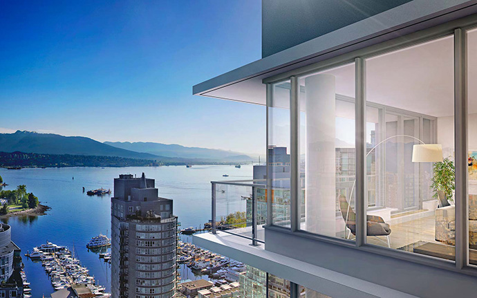 Downtown Vancouver view residences for sale.