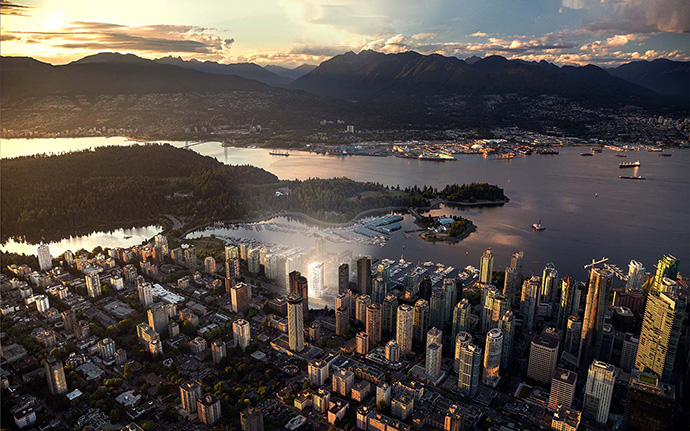 Live in the heart of Coal Harbour Vancouver.
