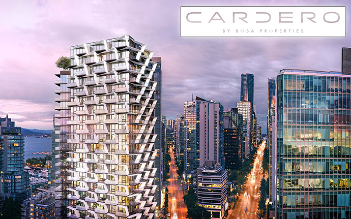Cardero by Bosa Properties is a new ultra-luxury Coal Harbour Vancouver condo tower.