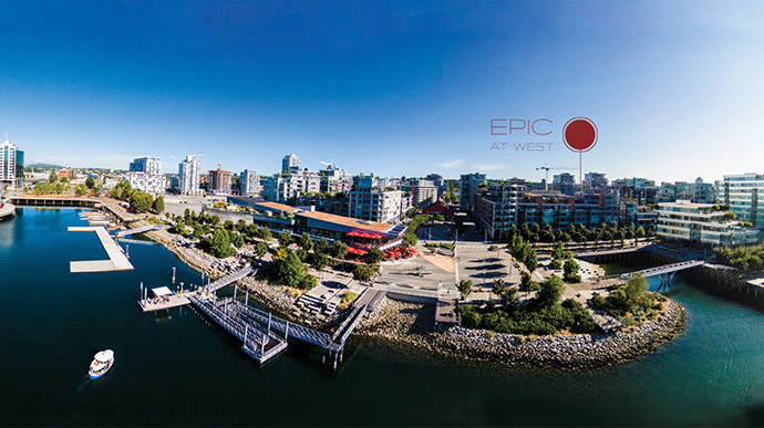 Impeccable location along the waterfront of Southeast False Creek Vancouver.