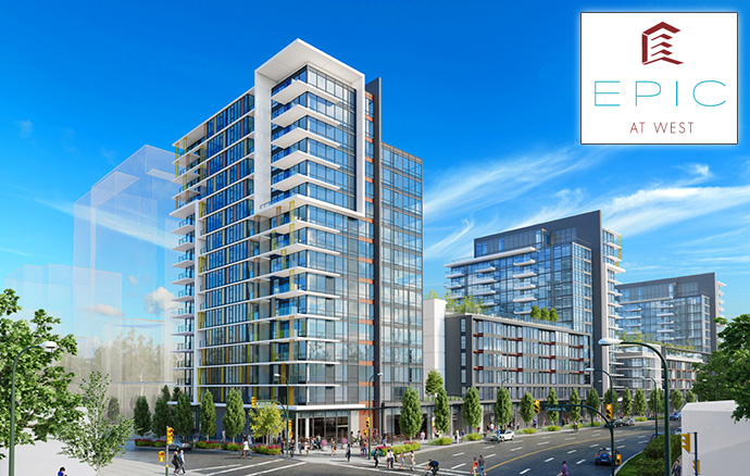 Southeast False Creek Vancouver EPIC at WEST by Executive Group Development.