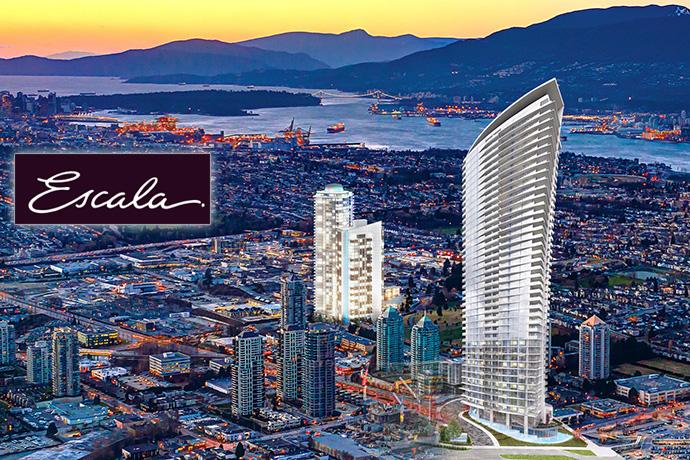 Presale Burnaby Escala Condos in Brentwood real estate market.