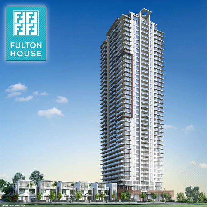 Rendering of the beautiful Polygon Fulton House Burnaby condo tower.
