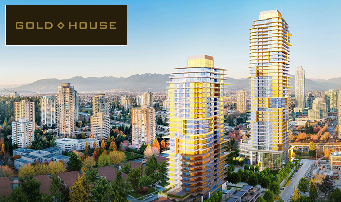 Presale Burnaby Gold House condos in Metrotown real estate market.