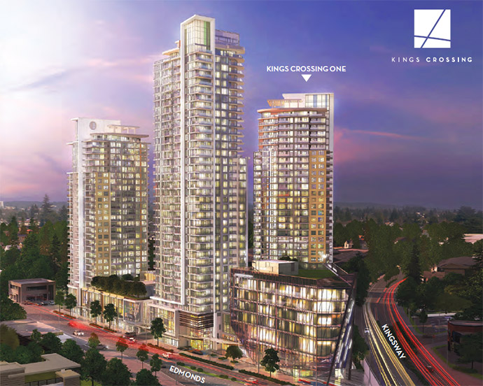 Presale Burnaby Kings Crossing One Condos in Edmonds Town Centre.