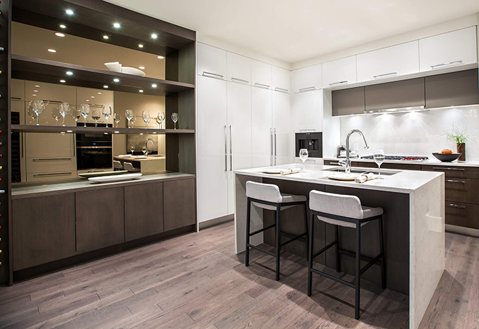 High-end appliances, quartz counters and meticulous attention to detail in the kitchens.