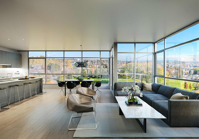 Beautiful South Cambie Langara West penthouse suites for sale.