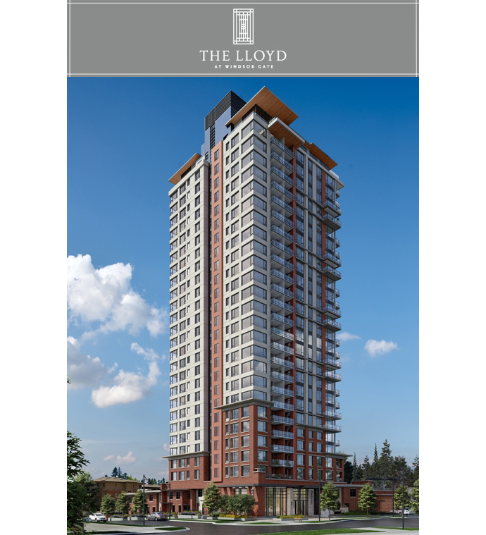 The Lloyd Coquitlam Windsor Gate condos by Polygon Homes.