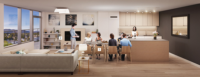 Entertain and host a meal at home with the ExtenTABLE BosaSPACE furniture add-on.