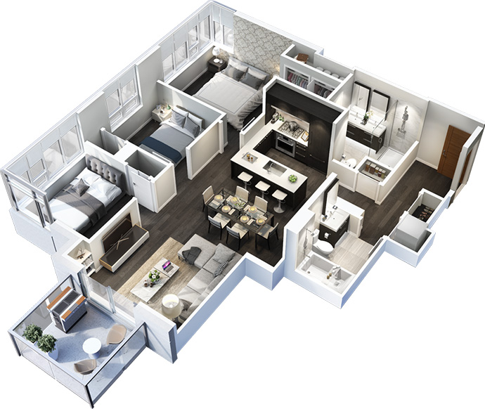 Presale Richmond Orchid floor plan layout.