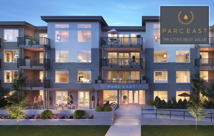 Rendering of the Tri-Cities Parc East Port Coquitlam Condos.