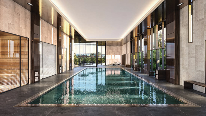 Beautiful indoor swimming pool.