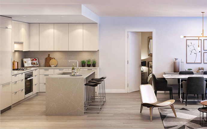 Beautiful living spaces at Park Station Vancouver Westside Condos.