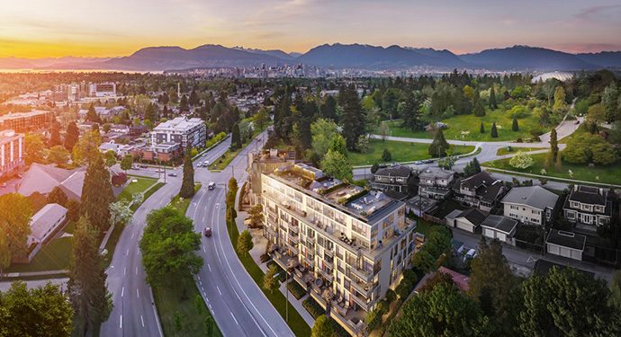 West Side Vancouver Primrose condos for sale.