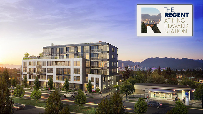 West Side Vancouver real estate market presents THE REGENT at King Edward Station transit oriented homes for sale.