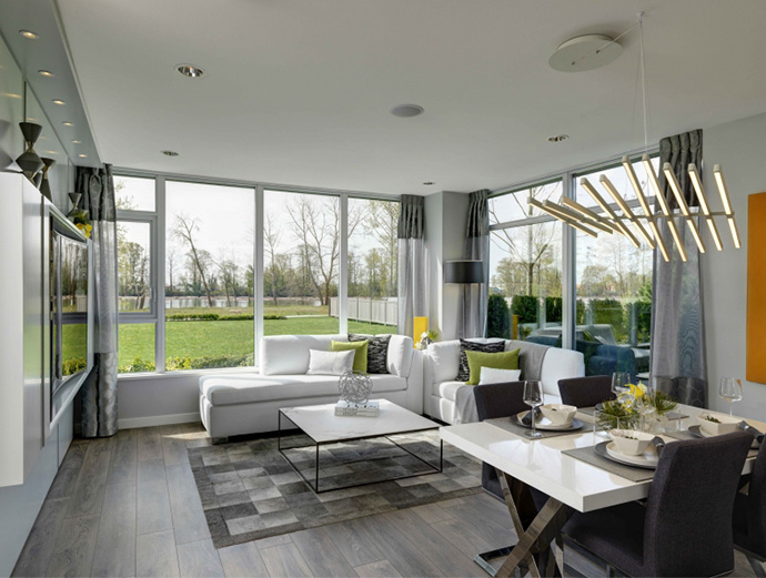 Bright and open floor plans at the new South Vancouver R + R River District condos.