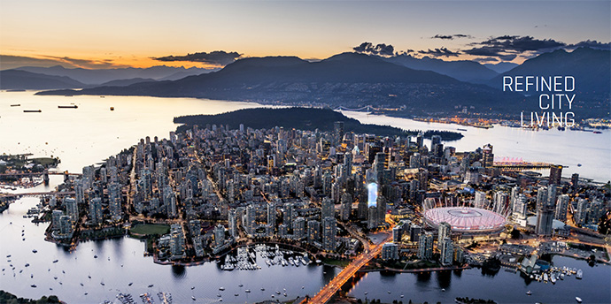 The Smithe Vancouver Downtown condo tower is located in the Vancouver Arts and Entertainment District.