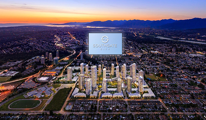 New Burnaby Southgate City condo development by Ledingham Mcallister developers.