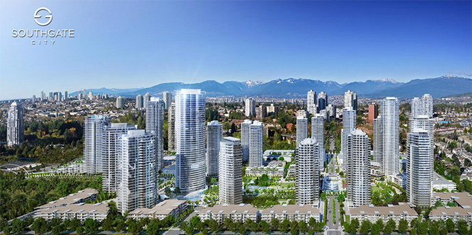 South Burnaby Southgate City real estate development.