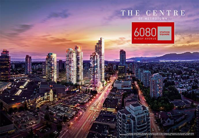 Rendering of the Burnaby Station Square 3 condo tower in Metrotown.
