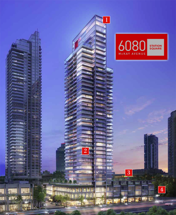 Rendering of the Metrotown Station Square 3 high-rise.