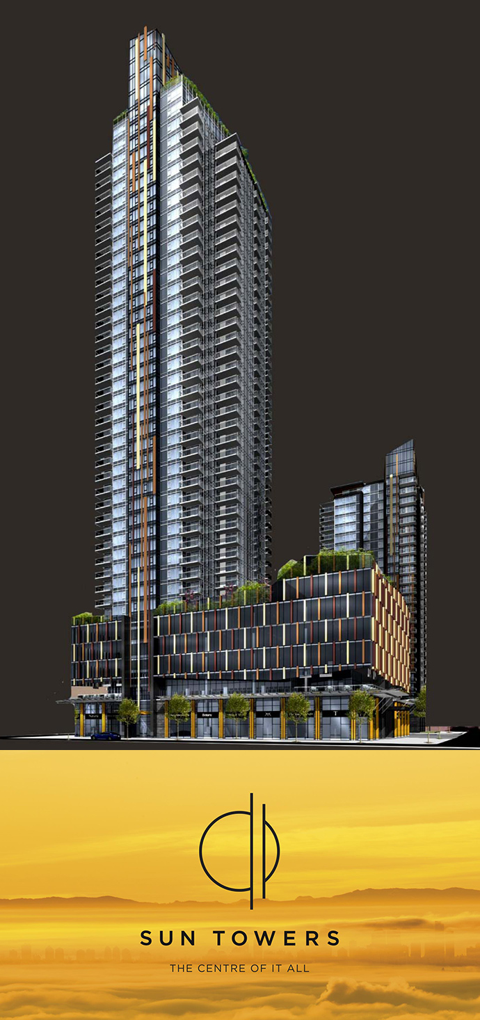 Sun Towers Metrotown condos for sale.