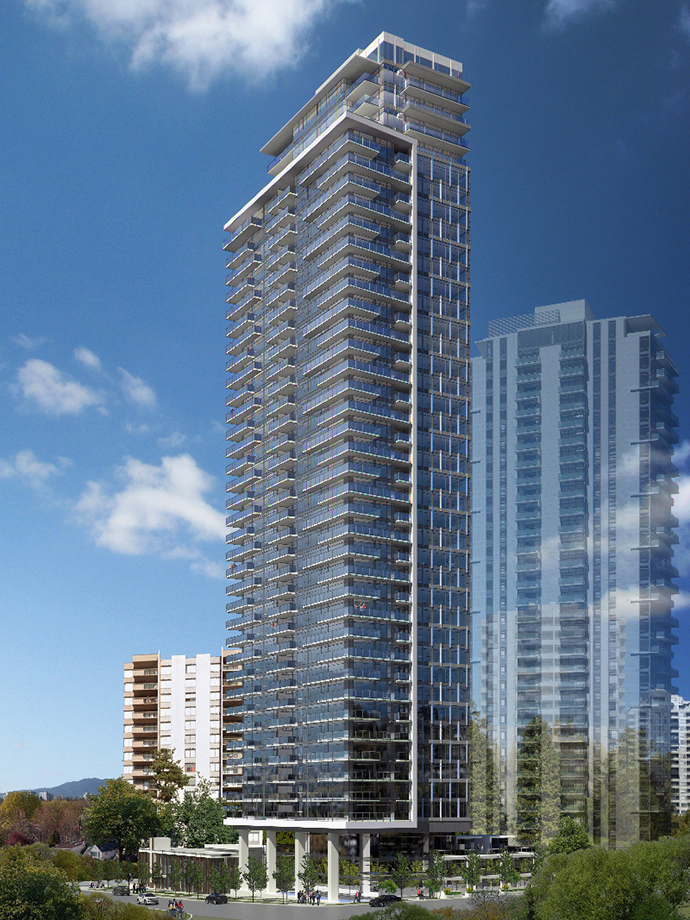 The Sussex high-rise in Metrotown Burnaby real estate market.