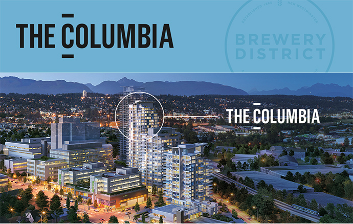 The Columbia Condos at The Brewery District New Westminster.