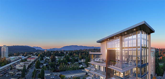 Spectacular Penthouse level views from UNION Coquitlam.