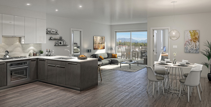 Stylish and modern interiors at The Heights Burnaby Verdi Condos.