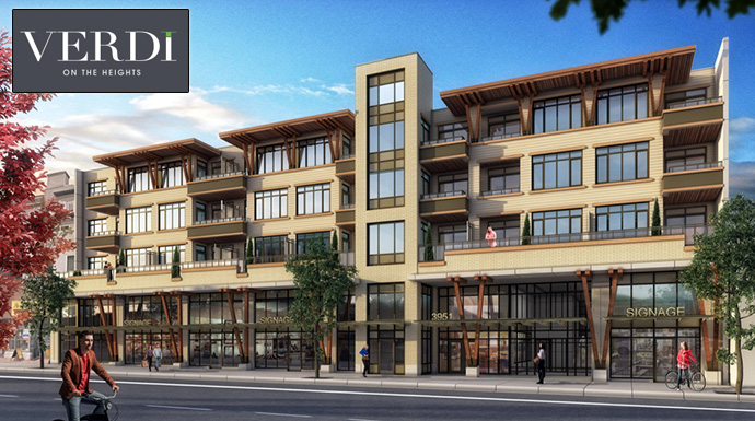 Presale Burnaby Verdi on The Heights Condos by Aquila Developments.