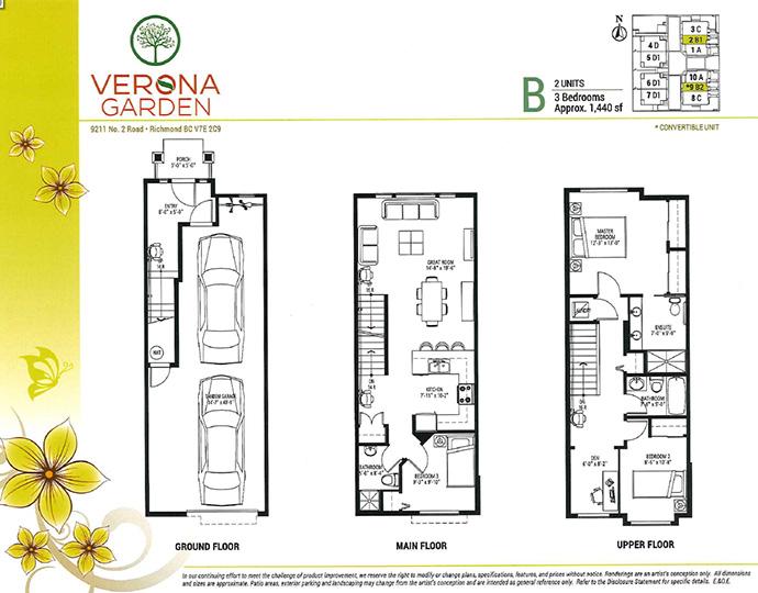 Verona Garden Richmond townhouse floor plan.
