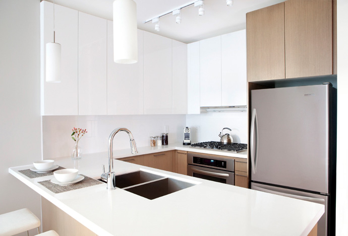 Light or dark color palette at the 1123 West Wood Coquitlam Centre real estate development.