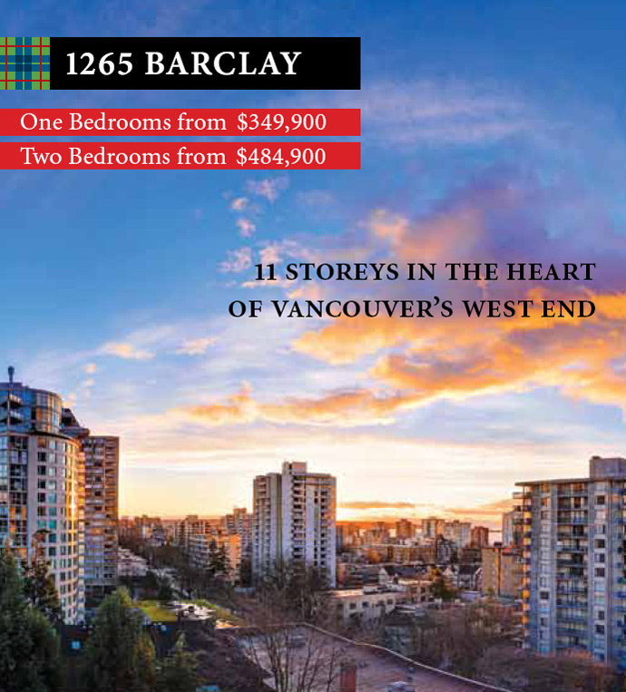 1265 Barclay Vancouver West End condos for sale