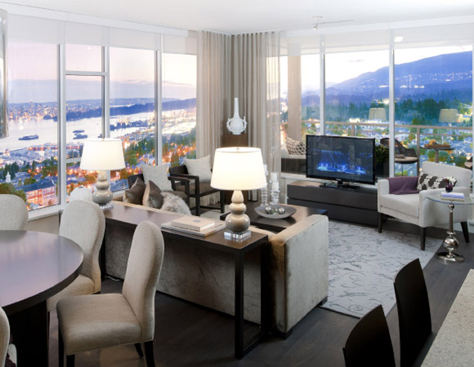 Expansive 15 West Floorplans are some of the biggest in Central Lonsdale North Vancouver real estate district.