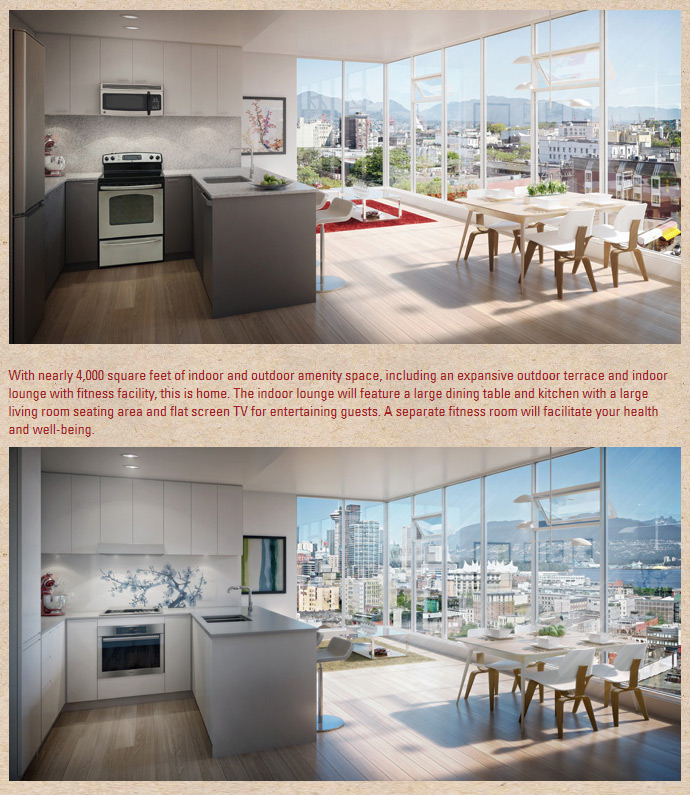 188 Keefer Vancouver Chinatown apartments for sale with fabulous interior specifications.