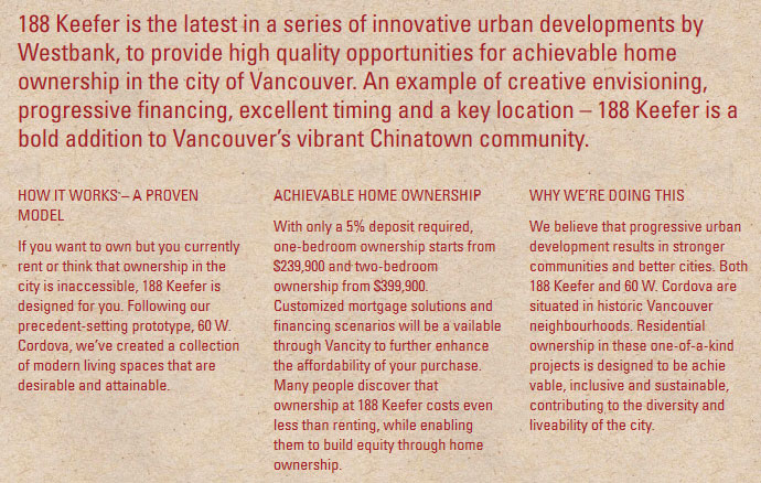 Achievable home ownership in Vancouver is now here at 188Keefer.