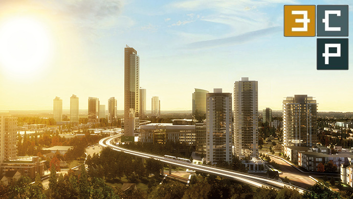 another 3CP Surrey rendering of the landmark tower.