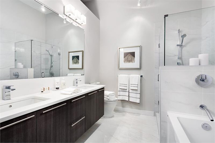 Ensuite bathrooms at 41West Vancouver inspired by spas.
