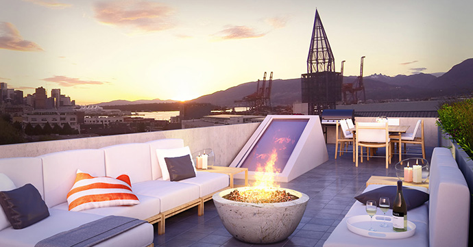Anyone for an oversized rooftop terrace at 626 Alexander Street Vancouver Downtown?