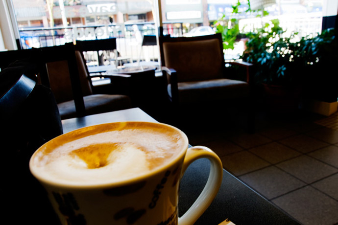 Enjoy a coffee just seconds away from your new digs at 885 Salsbury Vancouver apartment building
