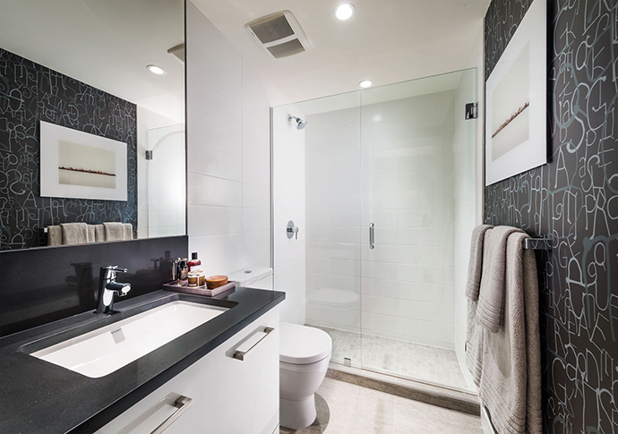 Strathcona Vancouver condo bathroom.