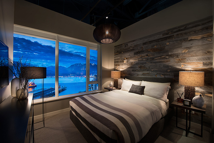 Spacious bedrooms with a view.