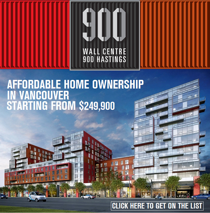 Wall Financial 900 Hastings Vancouver Condos. Proudly Strathcona.