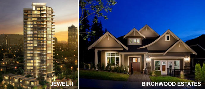 Lower Mainland builders showcase their new condo projects in Burnaby and Coquitlam real estate markets.
